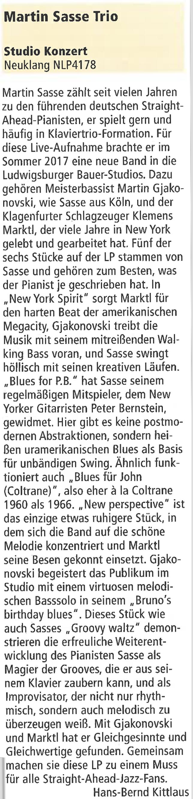 Martin-Sasse-Piano-Jazzpodium-Rezension-Presse